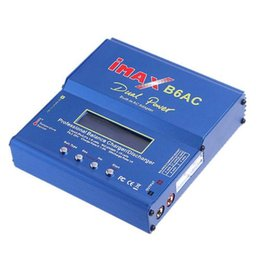 Wholesale Lipo Battery 6s - 2016 80w iMAX B6AC Lipo NiMH 11.1V 7.4V-22.2V RC Battery Balancer Charger , 2S-6S B6 Charger with Leads