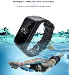 Wholesale Bit Bracelet - Small projectSmart Wristband K1 Real-time Heart Rate Monitor Fitness Tracker Waterproof Bluetooth Bracelet Passometer fit bit Iphone Android