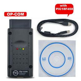 Wholesale Can Interface Ecu - V1.59 quality A+++ Opcom Software 2014.02 with PIC18F458 Chip OP-Com Can OBD2 for Opel Firmware V1.59 Op com CAN BUS Interface