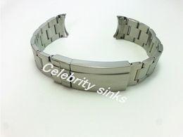 2019 einstellbare verschlussschnalle 20mm Band hochwertiges solides Edelstahlarmband gebogenes Ende verstellbare Faltschließe für Rolex Armband günstig einstellbare verschlussschnalle