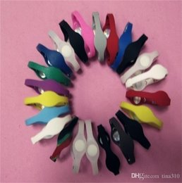 brazalete de jalea Rebajas Venta al por mayor - Moda para hombres y mujeres pulseras deportivas pulseras de moda equilibrio de energía pulseras de silicona de color sólido Pulseras de gelatina A0312