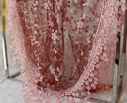 Wholesale Pashmina Tassel - Fashion Summer Ladies Lace Scarf Tassel Sheer Metallic Women Girls Floral Print Triangle Bandage Floral scarves Shawl
