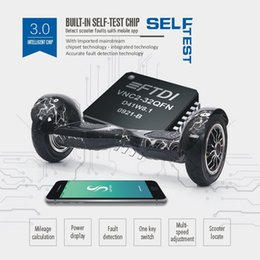 Wholesale Gps Locate - New! GPS LOCATE Bluetooth Music Electric Scooter APP CONTROL FAULT SELF DETECT Hoverboard 2 wheel Smart Balance Scooters 10 inch Drifting