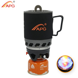 Wholesale Portable Cooking Gas - Wholesale-APG 2016 portable camping gas burners system and camping flueless gas stove cooking System