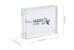 Wholesale Advertising Pictures - 10pcs 180*130mm Acrylic POP presentation Store Label price tag card frame advertising poster picture photo label display rack