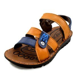 Wholesale Sandal Outsole - 2015 Summer Male Children Shoes Girls Boys Sandals Flat Sneakers Soft Outsole Genuine Leather Cowhide Kids Sandals Size 21-36