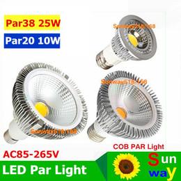 Wholesale Cob Led E27 Pure White - par38 led cob light E27 E26 PAR20 PAR30 PAR38 led bulbs light 10w 20w 25w Dimmable 85~265V warm pure cool white led spotights