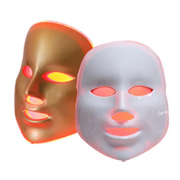 Wholesale Led Light Device For Wrinkles - Free Shipping 7 colors photon PDT LED Facial Mask Blue Green Red Light Therapy Beauty Device For Skin Rejuvenation Wrinkle Removal