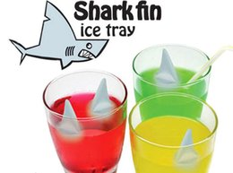Wholesale Silicone Ice Cube Trays Wholesale - Shark Fin Shape Ice Mold Cube Tray Silicone Ice Mold with Making 5 Fins 1 Time for Summer Funny Drinking
