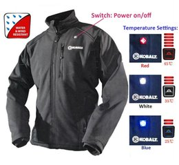 Wholesale Men Jacket Dhl - Kobalt cordless heated jacket with 5200 battery Ship By DHL