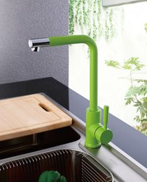 Wholesale Sink Faucet Pink - Kitchen Sink Faucet with Black, White, Green , Orange and Blue, Hot and Cold Brass Kitchen Basin   Mixer  Taps