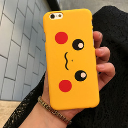 Wholesale cute mobile cases - Cute Yellow Pikachu Mobile Phone Case for IPhone6 6s 6 Plus PC Case for Iphone7 7plus