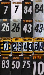 Wholesale Bell Shorts - Men's 7 Ben Roethlisberger 12 Terry Bradshaw 26 Le'Veon Bell 43 Troy Polamalu 50 Ryan Shazier 84 Antonio Brown elite jerseys