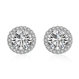 Wholesale Pendant Ear 18k - Free shipping 2016 newest hot sale Ms women female ladies fashion personality diamond popular earrings ear stud ear clip pendant