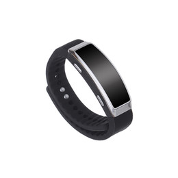 Wholesale disk bracelet - 8G smart bracelet music player audio recorder MP3 player w  voice recorder time stamp battery 20H REC memory disk audio player
