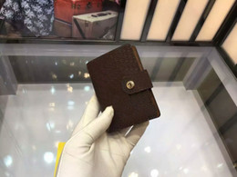 Wholesale French Business Letters - 2017 Brand French Wallet Women Real Leather Short Hasp Clutch Curieuse album wallet CX#208 Damier purse card holder 60722 with Box bags