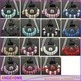 Wholesale Cheap African Beads Jewelry Set - wholesale Mix colors 10mm crystal clay disco ball Beads Bangles shamballa necklace bracelet earring set cheap women jewelry Gift