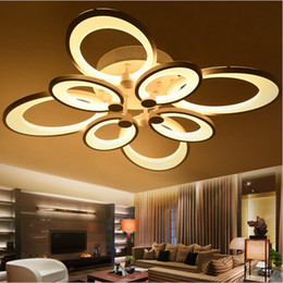 Wholesale Ceiling Fixtures - Remote control dimming led ceiling lights lamp for living room bedroom deckenleuchten modern led ceiling lights lighting fixture