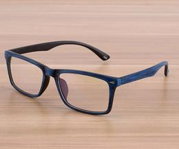 Wholesale Wood Framed Optical Glasses - Clear Lens Wood Print Glasses Men Women Optical Full Frame Vintage Retro Myopia Eyeglasses 10pcs Lot Free Shipping