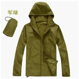 Wholesale Outdoor Sportwear - Fall-2016 brand clothing Men's Jacket Outdoor Men's Quick-dry Jackets Windbreaker Men Women Fashion Thin Summer Waterproof Sportwear