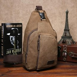 Wholesale Sling Grey - Wholesale-2015 Men Small Canvas Sling Messenger Casual Shoulder Bag Chest Pack Crossbody Bags 6O23