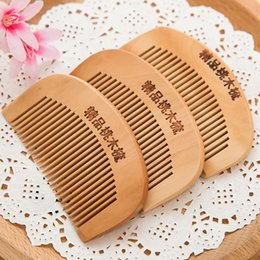 Wholesale Type Hair Clips - high quality multifunctional 8.7*5cm wooden comb women hair clips hair accessories