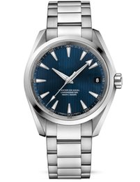 Wholesale Mechanical Hand Winding Watches - Luxury AAA Top Quality Mens Christmas Gift Aqua Terra Blue Dial Steel Men's 231.10.39.21.03.002 Automatic Men's Watches Wrist Watches