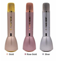 Wholesale Outdoor Songs - 2017 Newest K088 Magic Karaoke Microfone K Song Portable Wireless Bluetooth Microphone With Bluetooth Speaker Power Bank Outdoor KTV