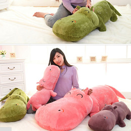 Wholesale Super Large Teddy Bear - 1 piece small size 50 cm hippopotami doll sleeping pillow cute super large stuffed plush toy cloth doll baby child birthday gift