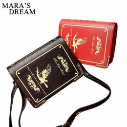 Wholesale book dictionary - Female England Style Retro Shoulder Crossbody Bags Diagonal Women Handbags Magic Dictionary Printed Books Bag Girls Messger Bags
