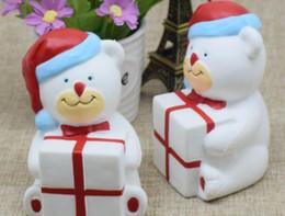 Wholesale Cheap Kawaii - 10PCS lot -kawaii squishy 11cm JUMBO christmas bear gift slow rising rare squishy wholesale chinese cheap FREE SHIPPING