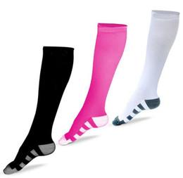 Wholesale Knitting Patterns Colors - Summer Running compression Sock Leg Shaper Basketball Compression Sock with Three Colors long pattern Knitted Socks