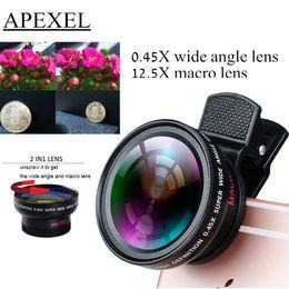 Deutschland Wholesale-TECHOO Professional HD Kameraobjektiv für iPhone 6s / 6s Plus / 6 / 5s 0,45x Super-Weitwinkel und 12,5x Super-Makro-Objektiv APL-0,45WM Versorgung