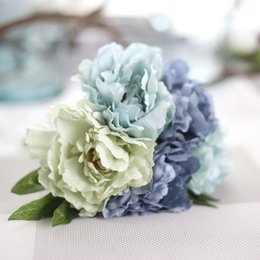 Wholesale Blue Coffee Table - Peony Artificial Flower For Bedroom Living Room Coffee Table Office Home & Garden DIY Fake Flower Wedding Party Decor