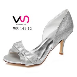 Wholesale Girls Kitten Dresses - Middle Heel Shinny Material Bridal Shoes Wedding Shoes Bridemaid Shoes Flower Girl Shoes Wedding Dress Shoes With Crystal Pearl From Size 35