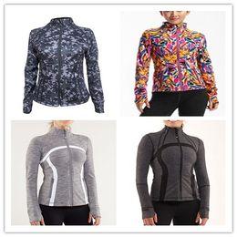 Wholesale Slim Coat Outerwear - 2016 Women lulu Yoga define jacket sport free Shipping New Arrival Lulu Jackets Outerwear Coat for Women Top quality lady Size xxs-xl