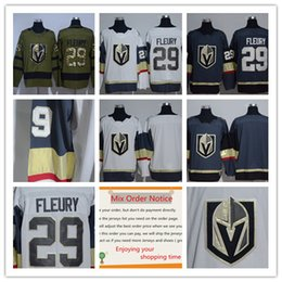 Wholesale Full News - 2017-2018 News season style Stitched adlads Vegas Golden Knights 17 Blank #29 Marc-Andre Fleury 80 Tyler Wong Stitched Hockey Jerseys Ice