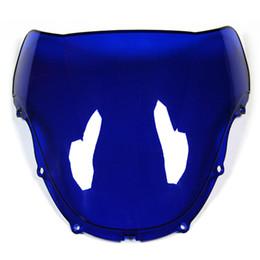 Pára-brisas 99 on-line-Pára-brisas ABS Bolha Dupla Azul Preto Claro Pára-brisa Para Honda CBR600 F4 99 - 00 Ano 1999 2000 Pára-brisas Da Motocicleta
