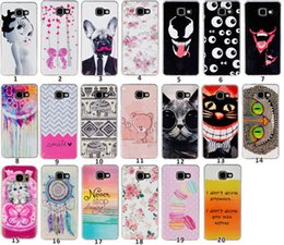 Wholesale Sexy Cartoon Girls - Flower Cat Butterfly Soft TPU Case For Galaxy A9 S7 EDGE J120 J510 J710 A310 A710 Dot Sexy Girl Doughnut Owl Bear Lover Cartoon Cover Skin