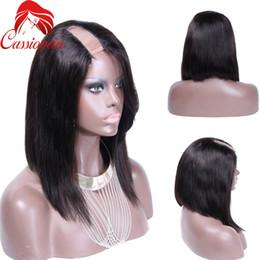 Wholesale U Part Wig Brazilian Bob - Cheap Bob U Part Wigs For Black Women Glueless Virgin Brazilian Human Hair U Part Wigs Bob Short Human Hair Large Stock
