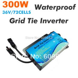 Wholesale Waterproof Solar Grid Tie Inverter - 300W Waterproof Grid Tie Inverter 230VAC MPPT 36V panel,72 Solar cells,22V-45VDC,MPPT function,Pure Sine wave 190V-260V output