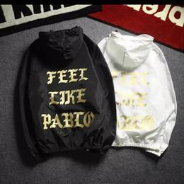 Wholesale Trench Coat Hip Hop - 2017 Summer Fashion Trends I Feel Like Pablo Jacket Men Hip Hop Outwear Thin Waterproof Sunscreen Trench Kanye West Jacket Coats