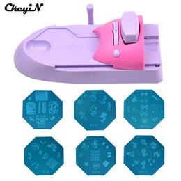 Wholesale Professional Nail Stamp Machine - Wholesale- 2016 Professional Printing Stamp Machine Nail Art Printer Manicure for Nails Stamper Tool Set with 54 Patterns for Nail Design