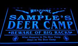 Wholesale Deer Signs - LS583-b Name Personalized Custom Deer Camp Big Racks Bar Beer Neon Sign