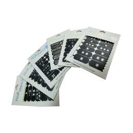 Wholesale Gel Polish Kit Sales - Byfunme Hollow Nail Sticker 6pcs kit decoration fashion beuty 2016 new hot on sale Polish gel