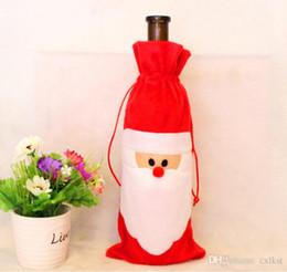 Natale essenziale Santa Claus Natale vino rosso Borse sacchetti regalo Borse di buona qualità Brand New Hot Sales da bastone di farfalla rosa fornitori