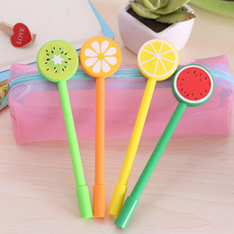 Wholesale Kids Plastic Tools - creative students pretty orange Gel Pen Kawaii Korean children Stationery Gift pen kids toys pen office writiing tool