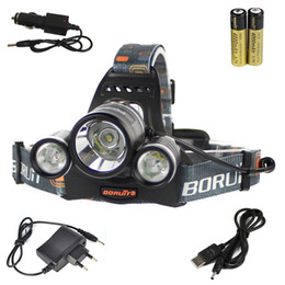 Wholesale bicycle headlamp led - 6000LM 3x XM-L T6 LED Headlamp Headlight Bicycle FISHING CAMPING Head Torch USB Lamp +2X 18650+Charger