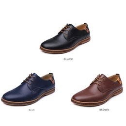Wholesale Men Shoes Trade - The latest PU leather four men high quality leather shoes leisure trade business casual men's code massage electric explosion