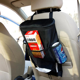 Wholesale Backseat Organizer - Auto Car Seat Organizer Insulation Work Sundries Multi-Pocket Holder Travel Storage Bag Hanger Backseat Organizing Bags Free Shipping